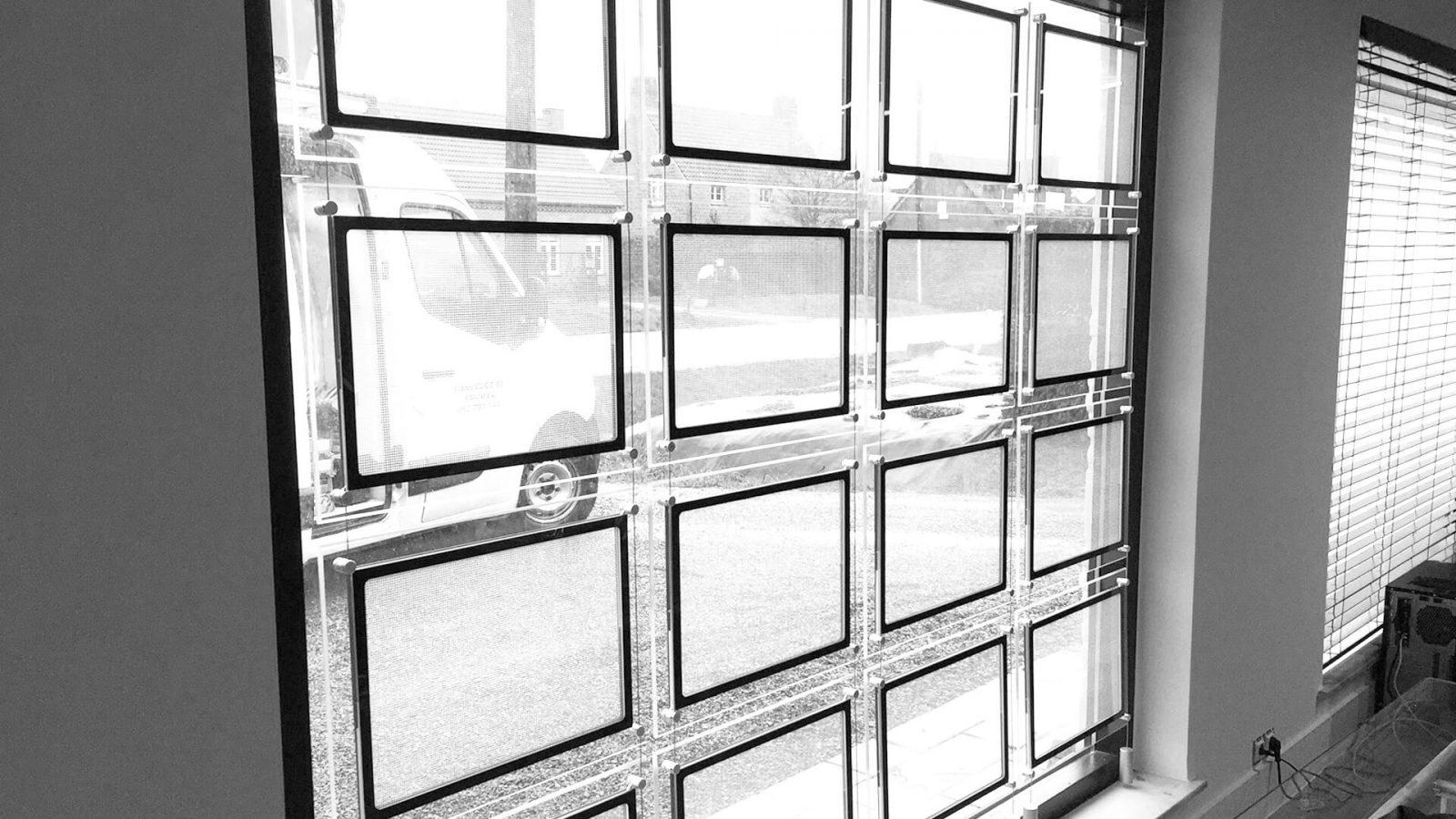 Led etalage display vastgoed DESIGN