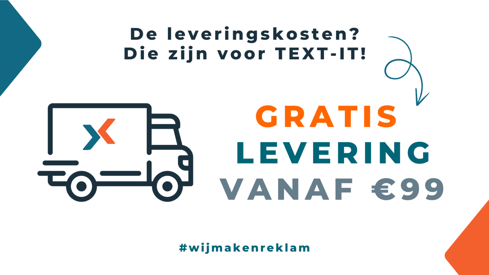 Gratis levering TEXT-IT webshop 1